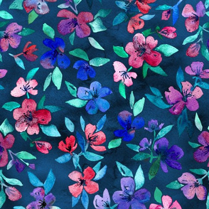 Southern Summer Floral in navy and color