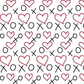 xoxo Heart Red Black