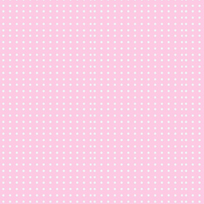 Wonky Dots_pink_with_white_poka_dots