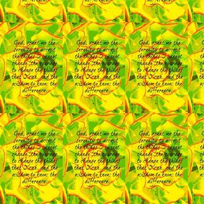 Yellow Serenity Prayer
