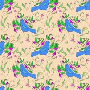 Bird In Vine Allover