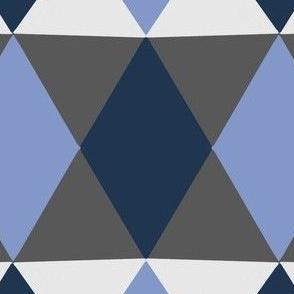 Blues & Greys Geometric Print