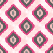 Pink and Grey Ikat