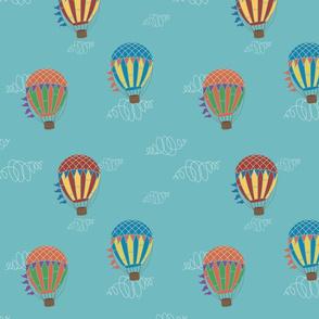 Hot air Balloon Adventure Blue Variant