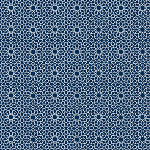 QUILTED STAR-NAVY SMALL