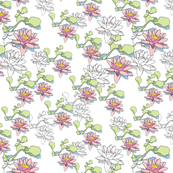 Water Lily 150x6white