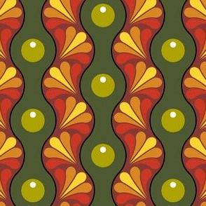drop splash wavy stripe : autumn berry