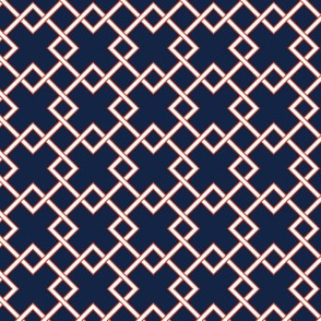 lattice - Indigo Red