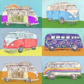 Bus aquarell