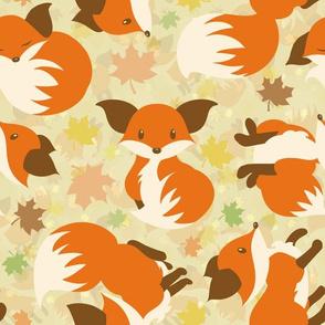 Curious Maple Fox