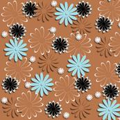 Daisies (Brown Background)