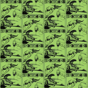vintage animal sketches - chameleon 2-ch