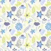 Blue and Purple Wildflowers
