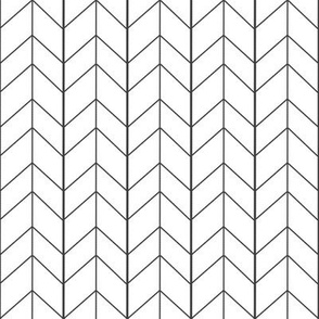 Small Arrow Chevron -White