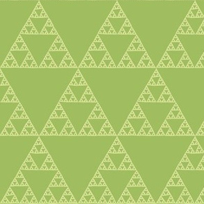 Sierpinski triangle in green tea