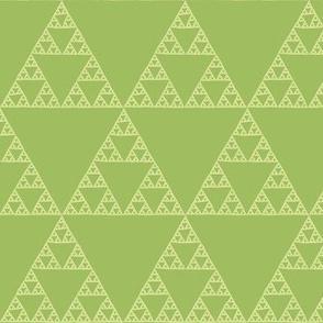 Sierpinski triangle in green tea