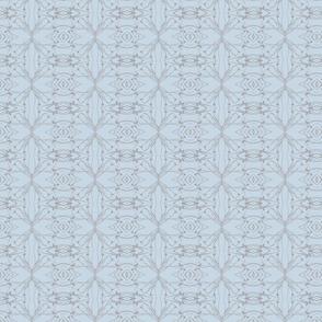 Dandelions (Gray on Blue)