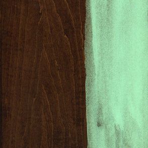 Green Paint on Wood