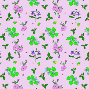 Violet Flower Garden