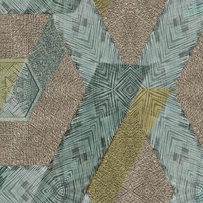 rabbit kale hexagons