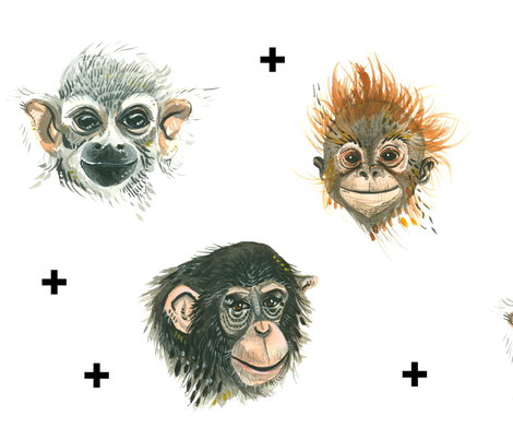 Happy Apes (Larger scale)