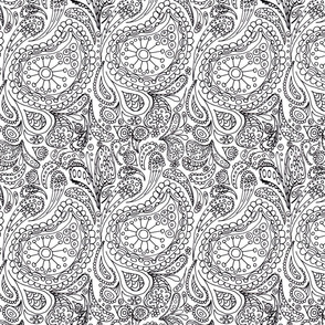 calendar paisley colour-in-wiccked