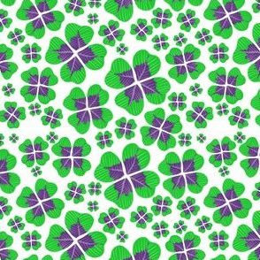 Clovers on white