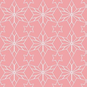 Rustic Star on Rosebud Pink