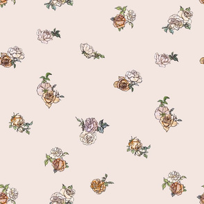 Ditsy Floral - Peach