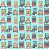 Sweet Windows in Teal Mini-print