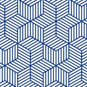 chevron 6 bars : blue outline