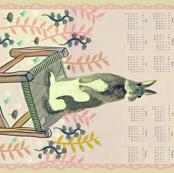 2017 Bunny Calendar