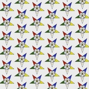"Med. 1"" Grey Eastern Star Standard Symbol"