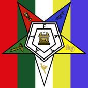 """Med 1"""" Stripe Eastern Star Standard Symbol"""