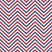 USA Flag Red, White Blue Wavy ZigZag Chevron Stripes