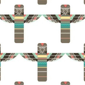 Colorful Totem Pole