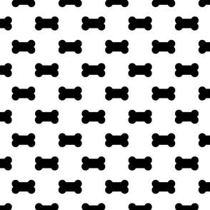 Licorice Black Dog Bones on White
