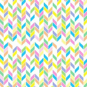 Spring Pastels Colorway - Chevrons Small