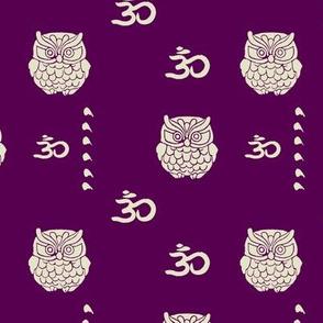 Om owl purple