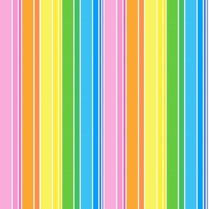 Spring Pastels Colorway - Stripes Bright Small