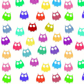 Buff_scattered_rainbow_owls_spoonflower