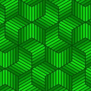 chevron 6 bars : forest green