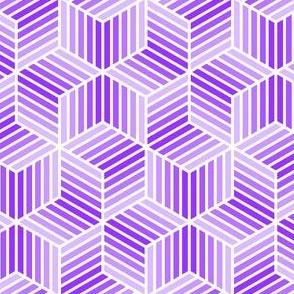 chevron 6 bars : violet mauve