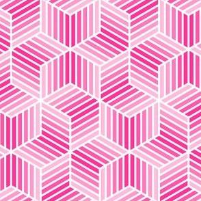 chevron 6 bars : pink
