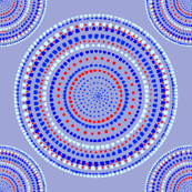 Dancing dervish circles on periwinkle by Su_G