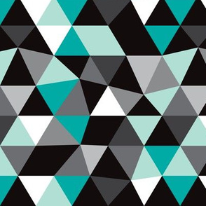 Pastel modern geometric triangle pattern blue