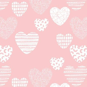 Big love geometric hearts valentine and wedding theme for romantic lovers pastel pink girls