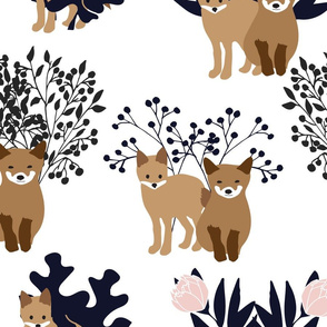 foxes and flora blue