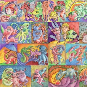 Early rainbow Imagine pattern