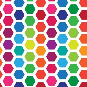 Rainbow Hexies